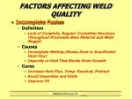 factors affecting weld quality26