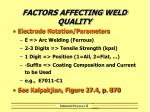 factors affecting weld quality29