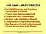 welding basic process