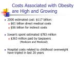costs associated with obesity are high and growing