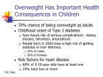 overweight has important health consequences in children