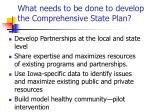 what needs to be done to develop the comprehensive state plan