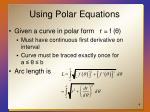 using polar equations