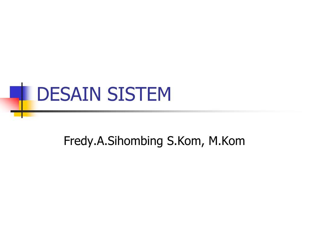 desain sistem l.