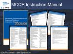 mccr instruction manual