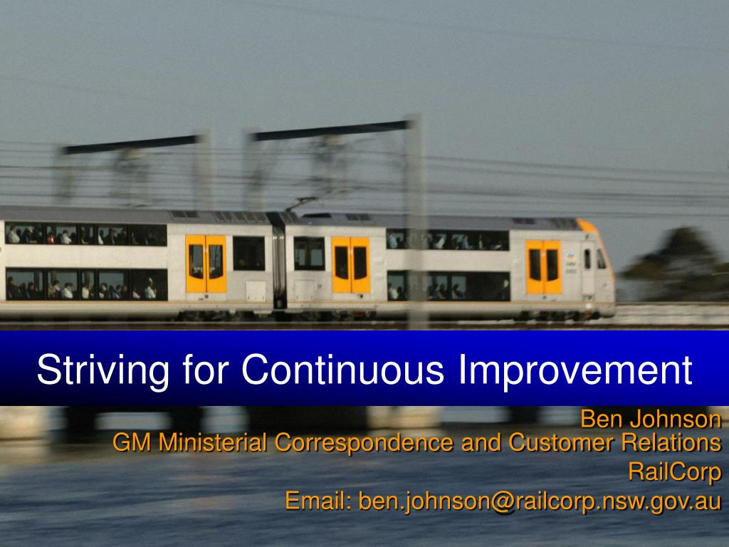 striving for continuous improvement l.