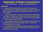 application of rules conventions how rubrics work example team passing sports
