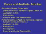 dance and aesthetic activities