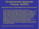 developmentally appropriate practices naspe