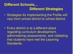 different schools different strategies