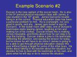 example scenario 2