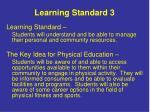 learning standard 3