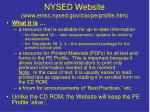 nysed website www emsc nysed gov ciai pe profile htm
