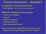 practice assessment standard 3