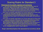 scoring rubric for standard 3