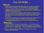 the cd rom