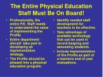 the entire physical education staff must be on board