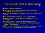 tourniquet test trendelenberg