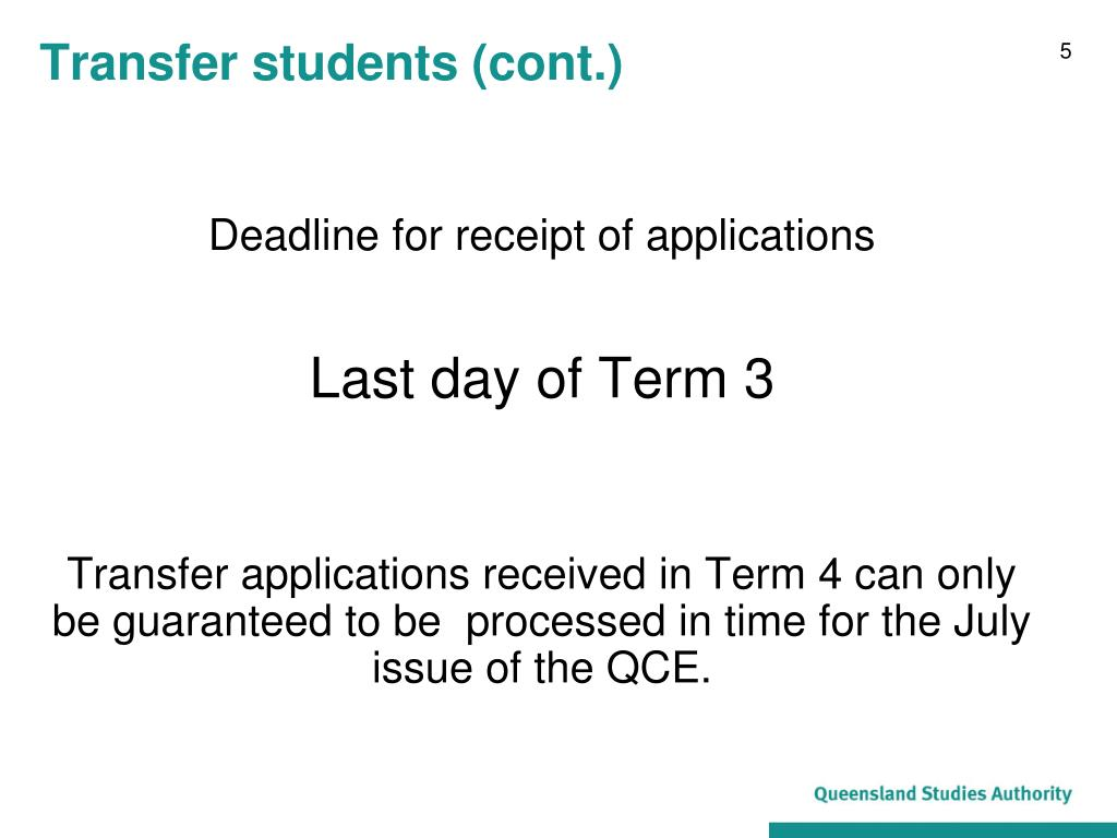 Transfer students (cont.)