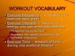 workout vocabulary