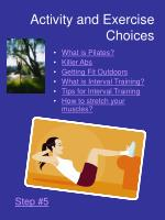 activity and exercise choices13