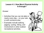 lesson 4 1 how much physical activity is enough31