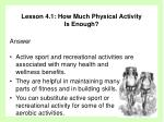 lesson 4 1 how much physical activity is enough35