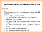 self assessment 4 assessing your posture46