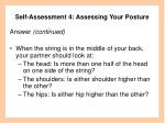 self assessment 4 assessing your posture47