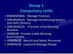 group 1 compulsory units