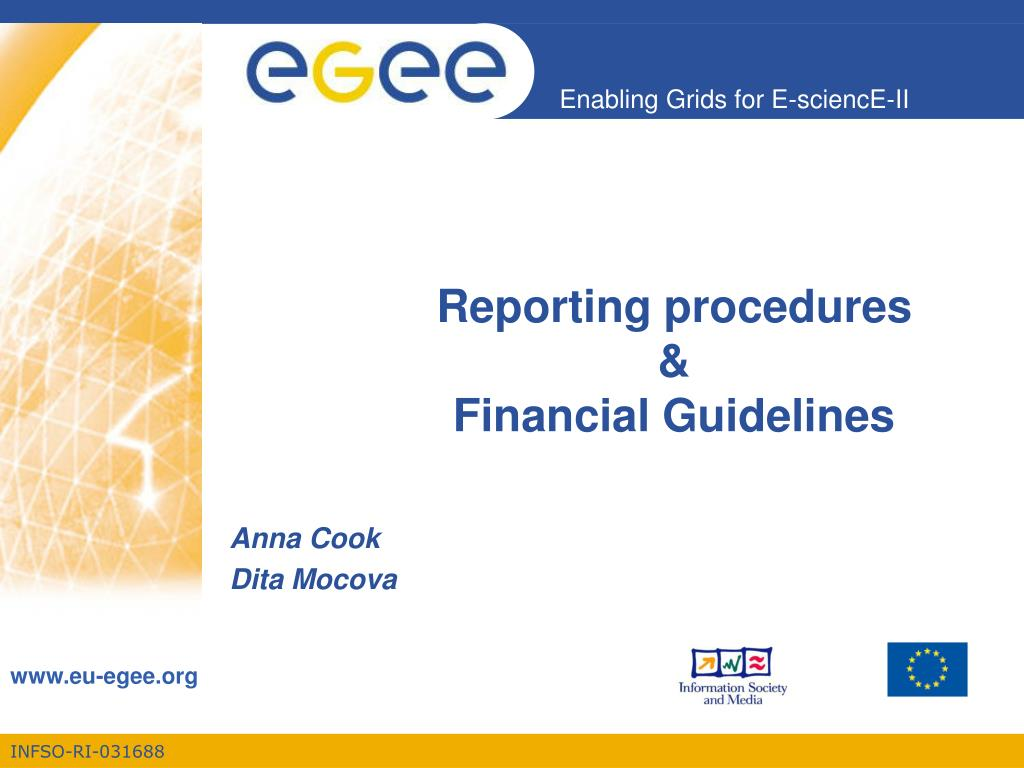reporting procedures financial guidelines l.