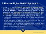 a human rights based approach