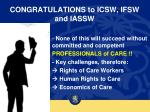 congratulations to icsw ifsw and iassw