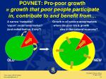 povnet pro poor growth growth that poor people participate in contribute to and benefit from