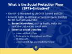 what is the social protection floor spf initiative
