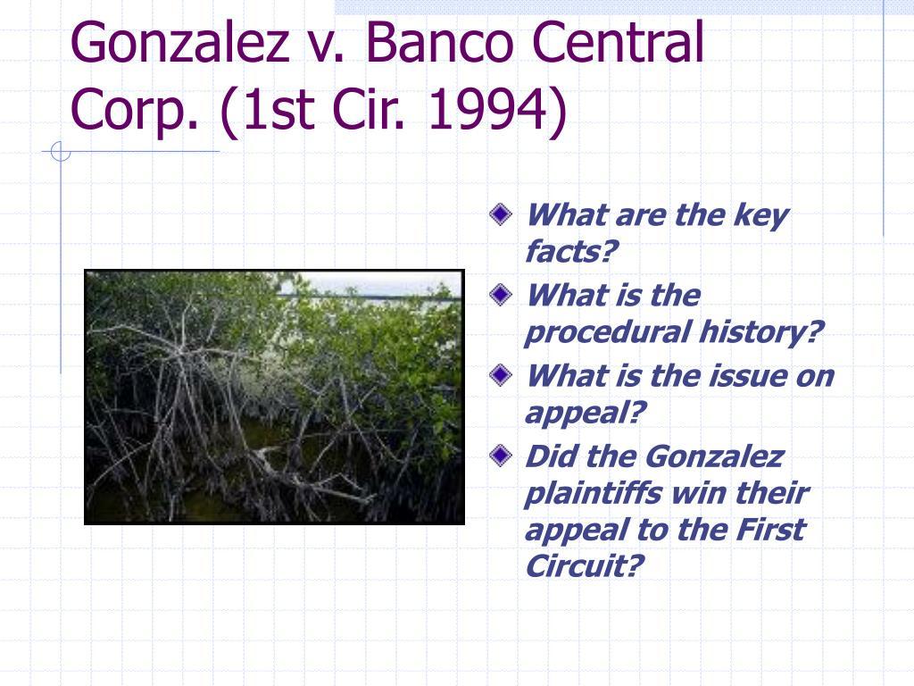 Gonzalez v. Banco Central Corp. (1st Cir. 1994)