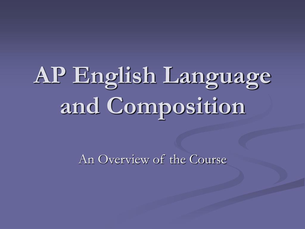 ap english language and composition l.