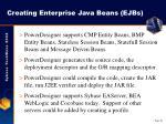 creating enterprise java beans ejbs