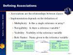 defining associations