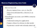 reverse engineering java code