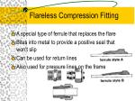 flareless compression fitting