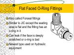 flat faced o ring fittings