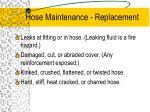 hose maintenance replacement