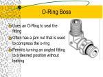o ring boss