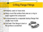 o ring flange fittings