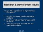 research development issues41