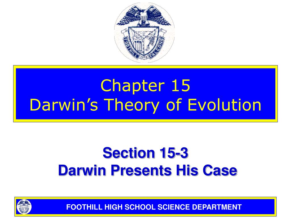 chapter 15 darwin s theory of evolution l.