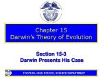 chapter 15 darwin s theory of evolution