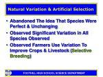 natural variation artificial selection