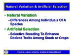 natural variation artificial selection7